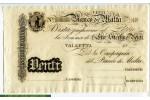 67819 - 20 Lire Banco Di Malta  Saint Paul    RARETE