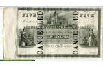 67820 - 5 Pounds North Scotland Banking Company  Billet Annulé   RARETE