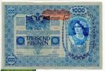 68685 - 1000 Kronen Portrait de Femme Tampon Rouge