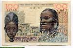 68702 - 100 Frs Buste de Femme & Masque Baoulé  E:Mauritanie   RARETE  N.107  E