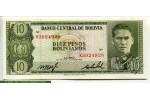 68739 - 10 Pesos Bolivianos G.Busch Becerra    *    *     *