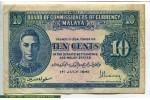 69057 - 10 Cents Portrait Georges VI Uniface