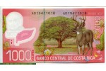 69351 - 1000 Colones  Braulio Carillo  Colina & Cerf Polymère  *   *  *  NOUVEAUTE
