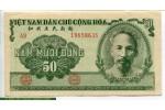 69457 - 50 Dong Ho Chi Minh Vert  & Paysans au Champ