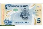 69464 - 5 Dollars Armoiries & pêcheurs  Polymère   *    *   *      NOUVEAUTE