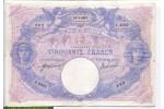 70803 - 50 FRANCS BLEU & ROSE - Type 1889