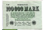 71181 - 100 000 Mark Uniface Vert Clair