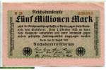 71188 - 5 Millionen Mark Uniface Vert rose  Série N35   *     *   *