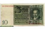 71198 - 10 Reichsmark Portrait Albrecht D.Thaer   *     *