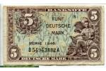 71217 - 5 Deutsche Mark Occupation Allié  Série B  *     *    RARE
