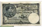 71254 - 5 Francs Roi Albert & Reine Elizabeth