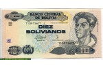 71270 - 10 Bolivianos Cécilio Guzman de Rojas Loi de 28/11/1986   * * * * * *