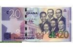 71374 - 20 Cedis Kwame Nkrumah et cinq leaders