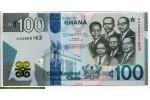 71376 - 100  Cedis Kwame Nkrumah et cinq leaders Polymère 3D Magnifique