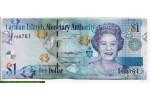 71401 - 1 Dollar Elizabeth II  s/ fond Marin  *   *   *     Série D6