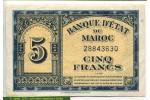 71486 - 5 Francs Banque d'état du Maroc Type USA