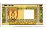 71573 - 1250 Echantillon SPECIMEN Filigranne Antilope  Superbe Billet   *     *    *