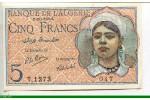 73085 - 5 FRANCS Jeune Musulmane