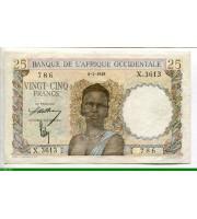 73092 - 25 FRANCS Buste Jeune Femme