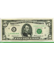 73108 - 5 Dollars Lincoln    *     *     L:San Francisco