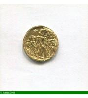 73217 - SOLIDUS Constantinople HERACLIUS CONSTANTIN & HERACLONAS Trace de monture S/tranche  4,41gr