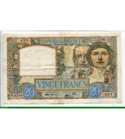 73869 - 20 FRANCS SCIENCE & TRAVAIL - Type 1940