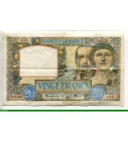 73909 - 20 FRANCS SCIENCE & TRAVAIL - Type 1940