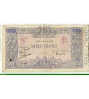73965 - 1000 FRANCS BLEU & ROSE - Type 1889