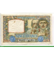 73992 - 20 FRANCS SCIENCE & TRAVAIL - Type 1940