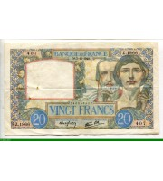 73993 - 20 FRANCS SCIENCE & TRAVAIL - Type 1940