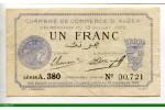 74076 - 1 FRANC Chambre de Commerce ALGER